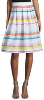 Kate Spade Ribbon Striped Pleated Skirt