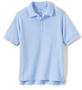 Classic Toddler Kid Short Sleeve Performance Mesh Polo-White
