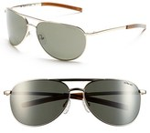 Smith Optics Women's 'Serpico Slim' 60Mm Polarized Aviator Sunglasses - Gold/ Polar Gray Green