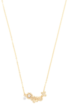 Indulgems CZ & 18K Yellow Gold Plated Station Necklace