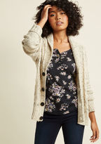 ModCloth Button-Up Cardigan with Shawl Collar in 4X