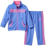 adidas Girls 4-6x Tricot Track Jacket & Pants Set