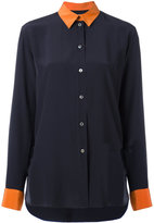 Paul Smith contrasting detail shirt - women - Silk/Cupro - 46