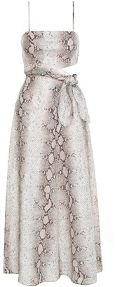 Zimmermann Bellitude Scarf Tie Dress