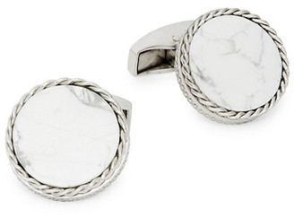 Tateossian Round Stainless Steel Cufflinks