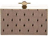 Jason Wu Printed Leather Box Clutch