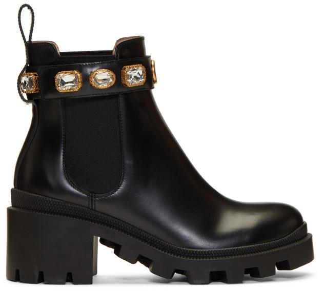 eb6e32c848231 Black GG Crystal Boots