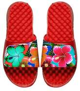 ISlide Tropical Floral Slide Sandal, Red
