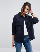 NATIVE YOUTH Pinstripe Jacket