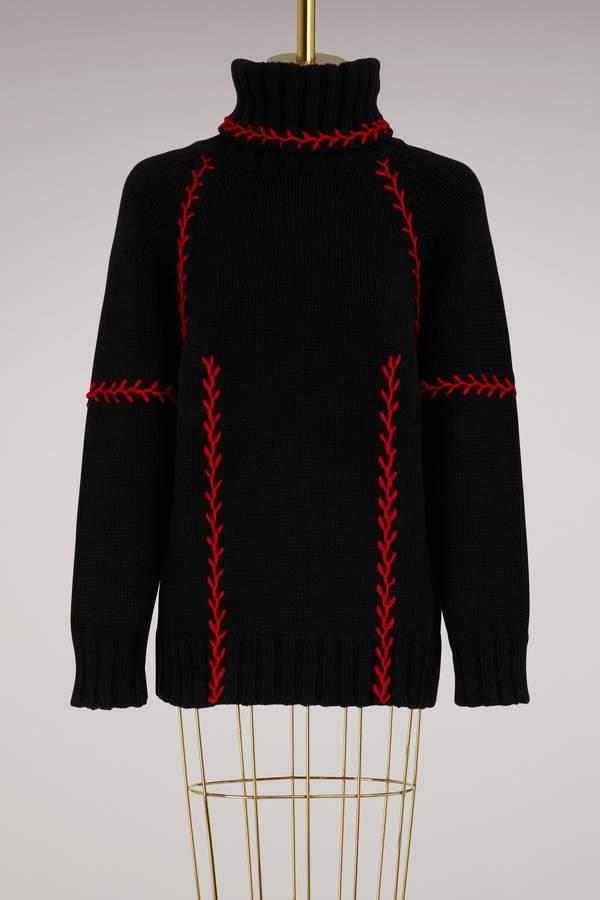 Alexander McQueen Tie Collar Blouse