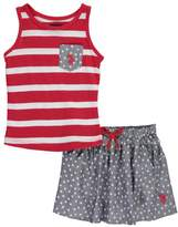 "U.S. Polo Assn. Baby Girls' ""Stars & Stripes"" 2-Piece Outfit"