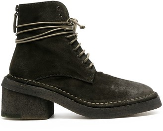 Marsèll Lace-Up Heeled Suede Boots