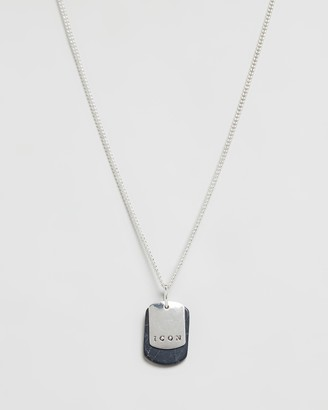 ICON BRAND Chain Neckalce With Dog Tag Pendants