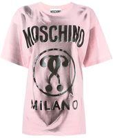 Moschino trompe-l'œil logo T-shirt - women - Cotton - 38