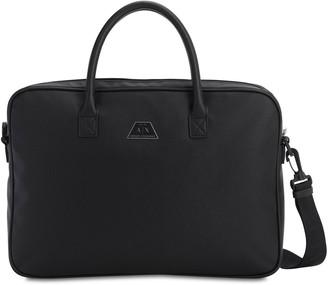Armani Exchange Faux Saffiano Leather Briefcase