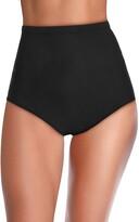 Thumbnail for your product : Mycoco Women's Super High Waist Swim Shorts Shirred Tummy Control Tankini Bottom Swimwear Brief - Black - 14