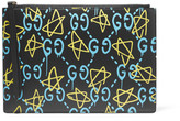 Gucci Printed Leather Pouch - Black
