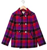 Milly Minis Girls' Checkered Wool Coat