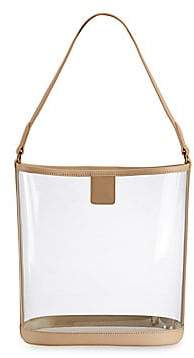 GiGi New York Women's Game Day Collins Tuohy Smith x Gigi Virginia Leather-Trim Translucent Hobo Bag