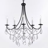Gallery Versailles Wrought Iron and Crystal 5-Light Chandelier
