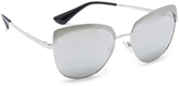 Prada Brow Cat Eye Mirrored Sunglasses