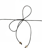 Frasier Sterling Disco Fever Flower Bow Tie Choker Necklace in Black