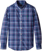 Polo Ralph Lauren Poplin Plaid Long Sleeve Button Down Shirt Boy's Long Sleeve Button Up