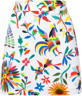 Milly printed mini skirt - women - Cotton/Spandex/Elastane - 4