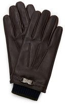 Ted Baker Core Leather Gloves with Clip