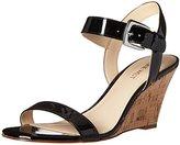 Nine West Women's Kiani Synthetic Wedge Sandal