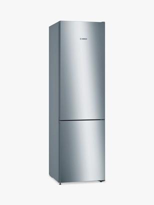 Bosch Serie 4 KGN39VLEAG Freestanding 70/30 Fridge Freezer, A++ Energy Rating, 60cm Wide, Inox-look