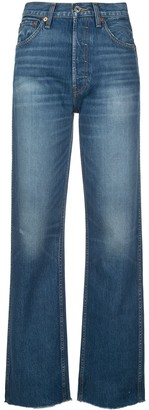 RE/DONE High Rise Straight-Leg Jeans