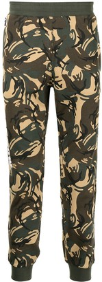 AAPE BY *A BATHING APE® Camouflage Print Track Trousers