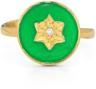 Harry Rocks North Star Ring Green Gold