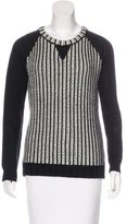 Rachel Zoe Wool-Blend Patterned Sweater