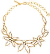 Oscar de la Renta pearl embellished flower necklace