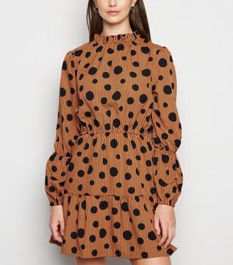 New Look Influence Spot Frill Mini Dress