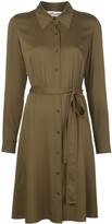 Diane von Furstenberg button down silk shirt dress