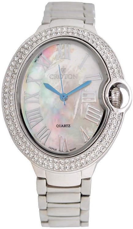 Croton Womens Silver Tone Bracelet Watch-Cn207566rhmp