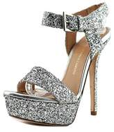 VC Signature Roxanne Women Open Toe Synthetic Silver Platform Sandal.