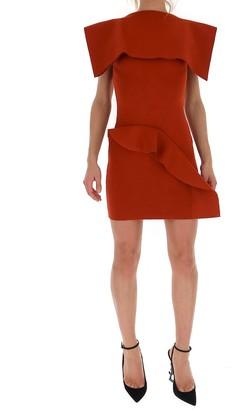Rick Owens Ruffled Open Back Dress