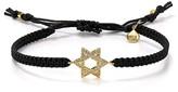 Tai Star of David Bracelet on Black Cord