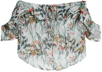 Walter W118 By Baker Carter Off-the-shoulder Floral-print Fil Coupe Chiffon Blouse