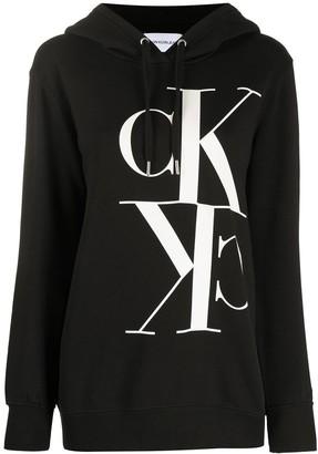 Calvin Klein Jeans Monogram Hooded Sweatshirt