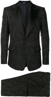 Dolce & Gabbana Lace Three-Piece Suit