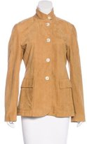 Loro Piana Suede Button-Up Jacket