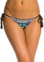 Red Carter Butterfly Effect String Tie Side Bikini Bottom 8132188