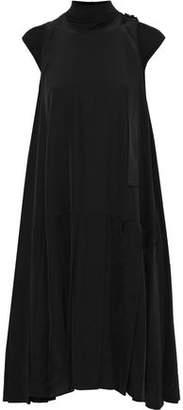 Max Mara Embellished Silk Crepe De Chine Dress