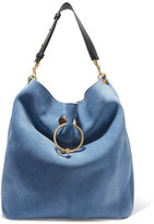 J.W.Anderson Pierce Hobo Suede And Leather Shoulder Bag - Blue