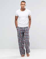 Tokyo Laundry Lounge Pants In Blue Check